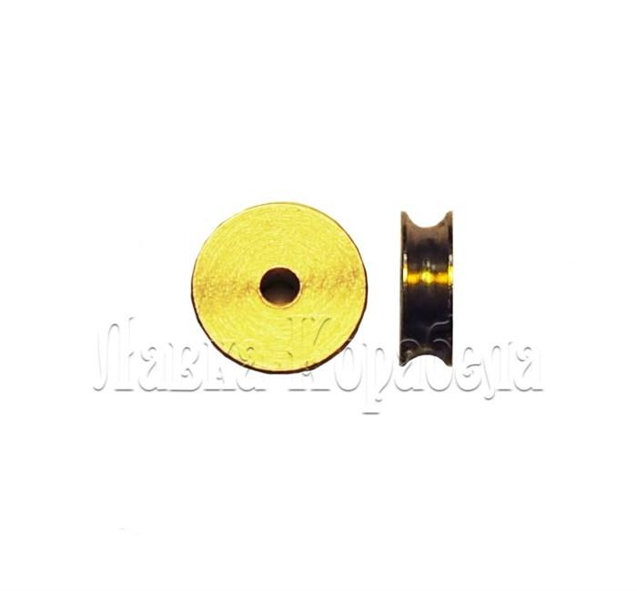 Шкив 3x1,5мм латунь - фото 5966